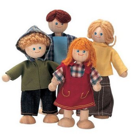 Plan Toys - Doll Family - 4 pieces