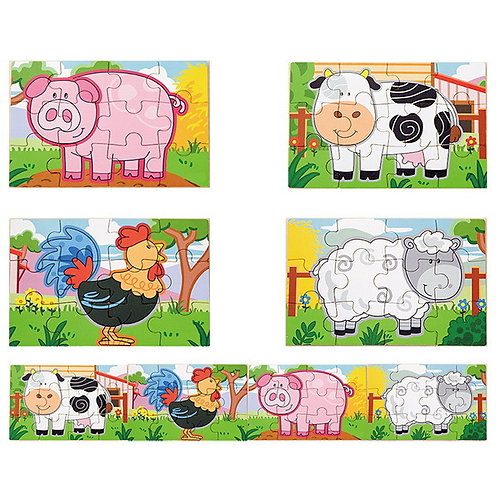 4- Puzzle Farm Animals