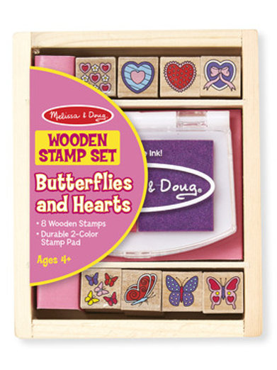 Melissa & Doug – Butterfly and Hearts Stamp Set
