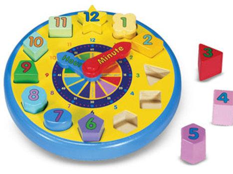 M&D - Wooden Shape Sorting Clock
