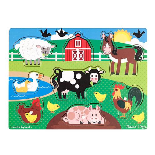 Melissa & Doug - Farm Peg Puzzle