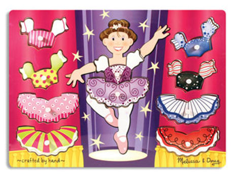 M & D - Ballerina Dress-Up Peg Puzzle