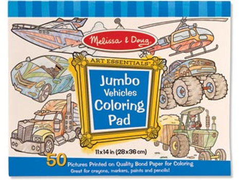 M&D - Jumbo Colouring Pad - Vehicles