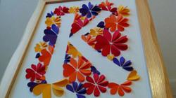 Monograma letra K - relieve