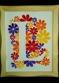 Monograma letra L enmarcado