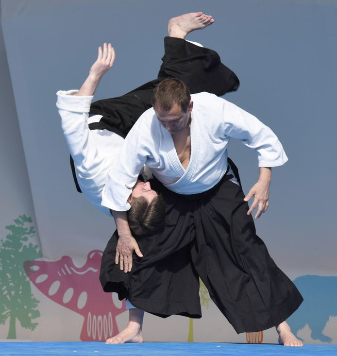 Айкидо-команда студии Intent показала техники защиты от атаки на фестивале боевых искусств (фото)