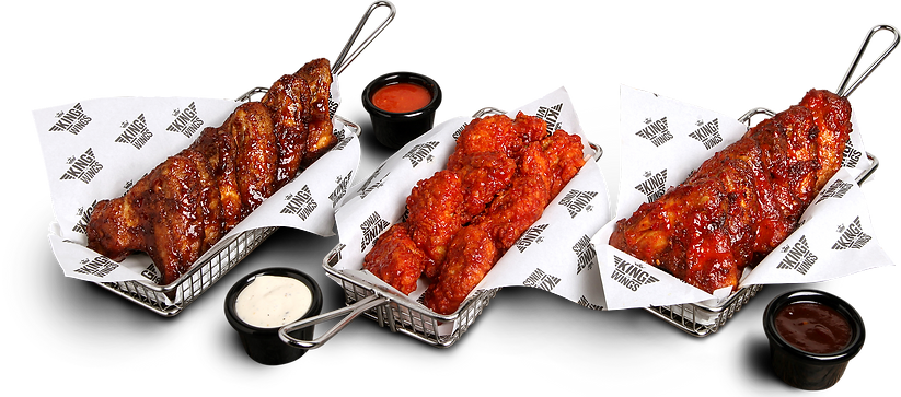Wings Bundle, chicken and dips
