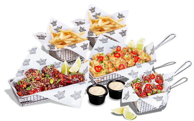 Wicked Bundle, chicken, fries and dips