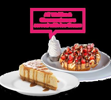 Biscoff Cheesecake & Strawberry Waffle.p