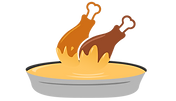 wings on sauce icon