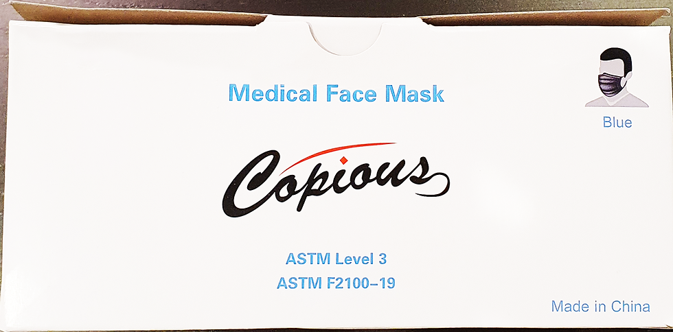 Copious Disposable Level 3 (Medical-grade) Face Mask - 600 pack