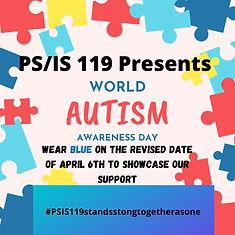Autism Awareness Day on April 6th.