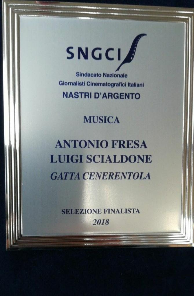 Nomination at Nastri d'Argento for the Gatta Cenerentola Original Soundtrack.