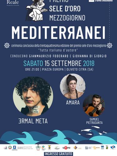 Premio Sele Mezzogiorno : Ermal Meta, Amara , Samuel Pietrasanta