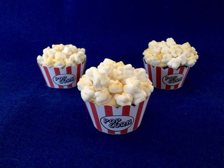Mark it with an E: Popcorn Cupcakes