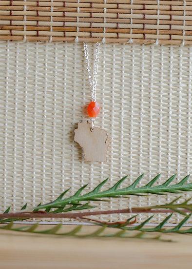 WI Birch With Gemstone Necklace