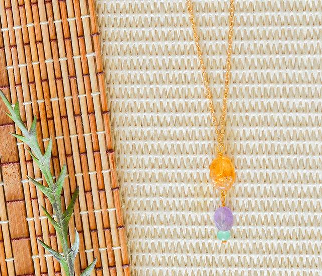 Three Gemstone Necklace