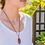 Thumbnail: Gemstone Antique Copper/Antique Silver Necklace
