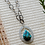 Thumbnail: Turquiose Teardrop Etched Silver Necklace