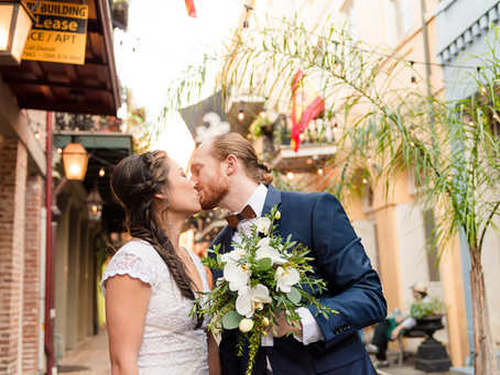 Bryan & Jennifer - Hotel Mazarin Wedding - New Orleans Wedding Photographer - French Quarter Wed