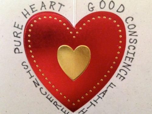 """Now the purpose of the commandment is love from a pure heart, from a good conscience, and from sinc"