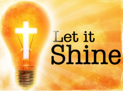 """Let Your Light So Shine"" Bible Verse for April ""So let each one give as he purposes in hi"