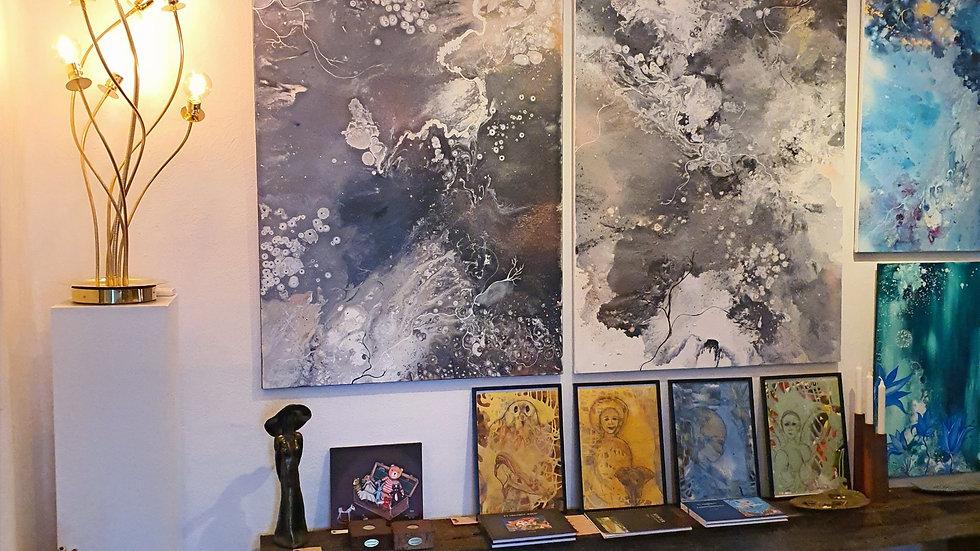 Kunst Maleri / Art Painting Monnick V Gaiazz