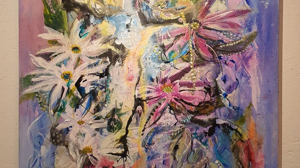 Kunst Maleri / Art Painting  Frida Freja Kunst