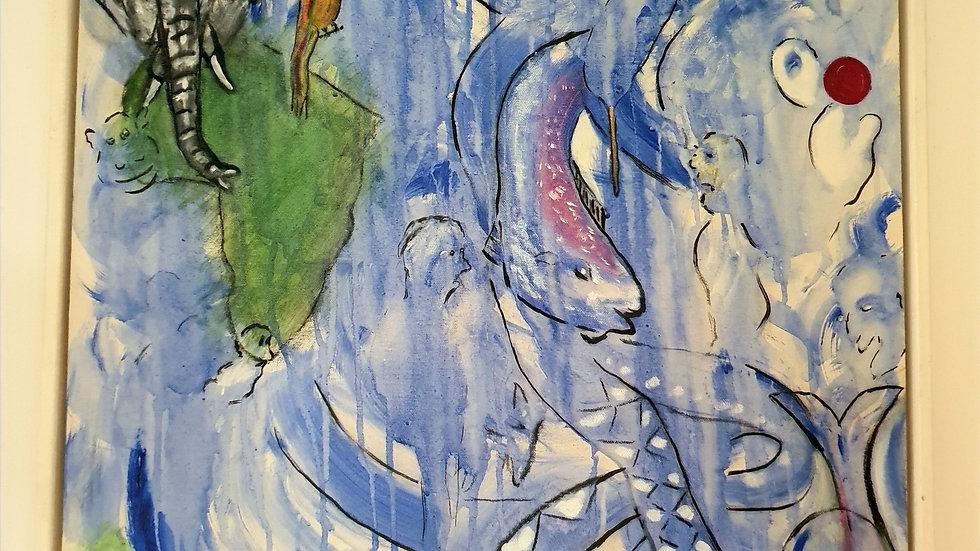 Kunst Maleri / Art Painting JESS