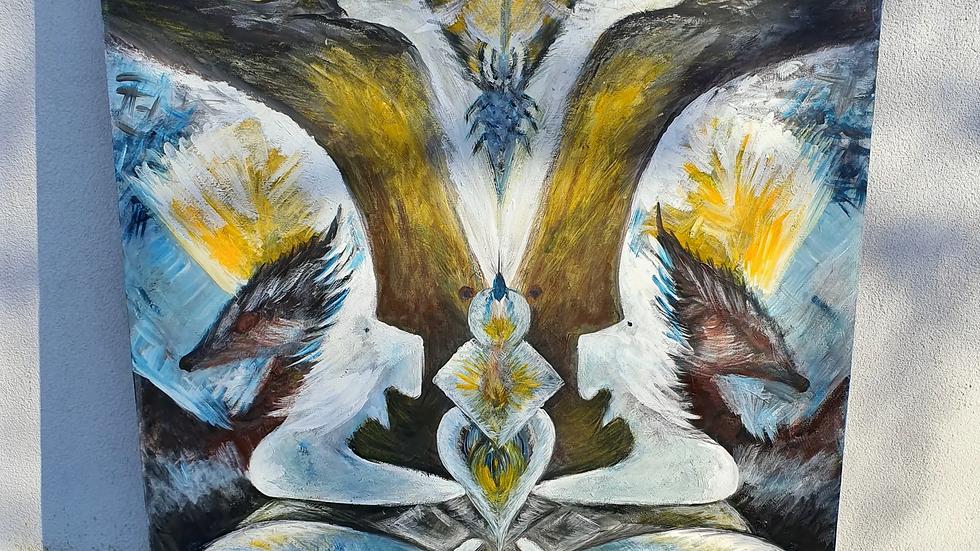 Kunst Maleri / Art Painting Liliann Sølvi
