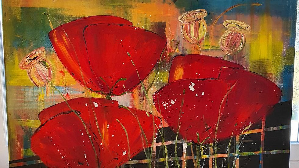 Kunst Maleri / Art Painting Anette Walter