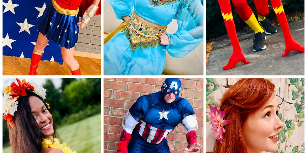 Princesses and Superheros in the Park