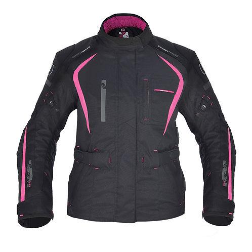Oxford Dakota Women's Textile Jacket Black & Pink
