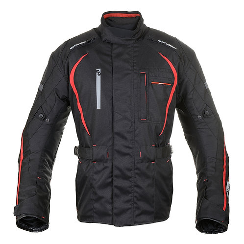 Oxford Subway 2.0 Textile Jacket Black Red