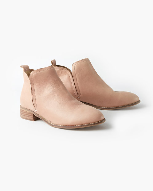 Douglas Leather Ankle Boot - Rose