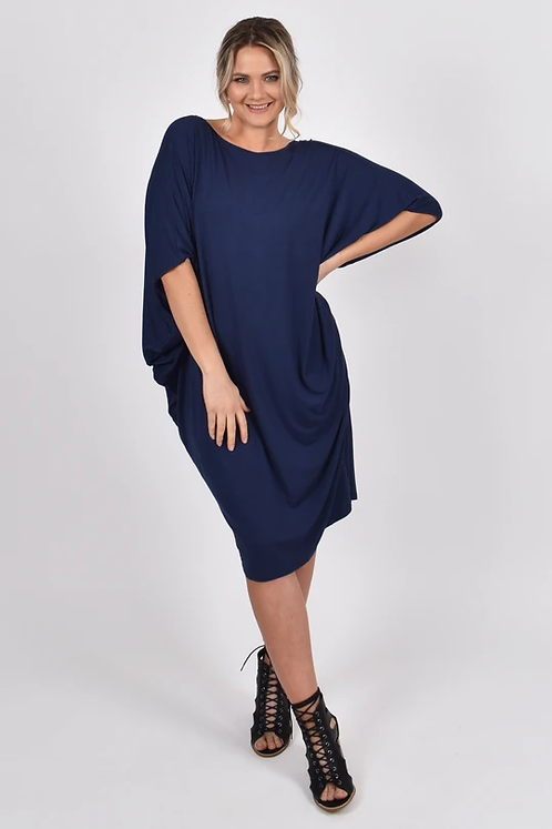 PQ Collection Miracle Dress In Navy