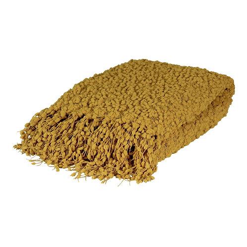 Alpine Textured Throw - Mustard