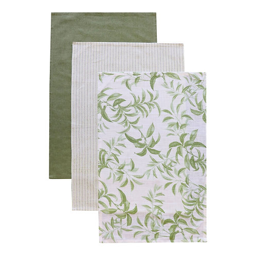 Hampstead Leaf Tea Towel Pack - Set Of 3