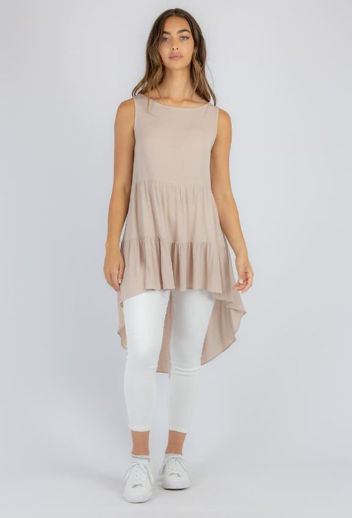 Tank top with hi/low hem