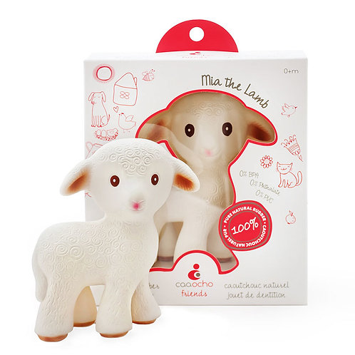 Mia the Lamb | Natural rubber teathing toy