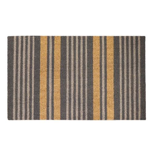 Madras Link Stripe Grey Door Mat
