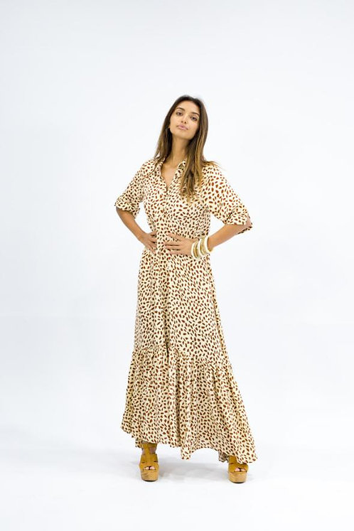 Skye Maxi Dress - Snow Leopard