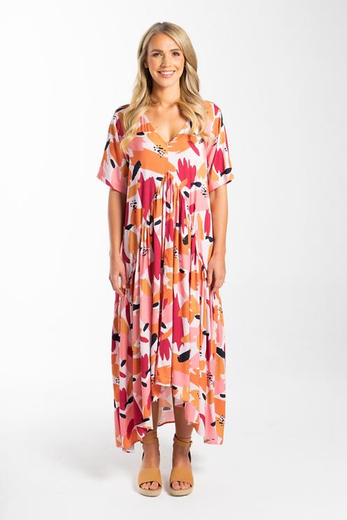 Peak Maxi Dress in Peach Splash