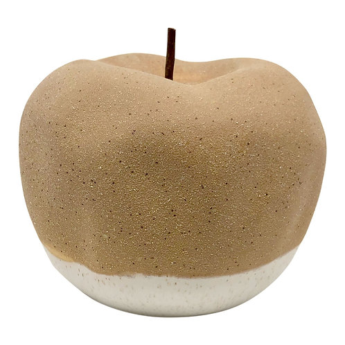 Airlie Apple Ornament - Clay/White