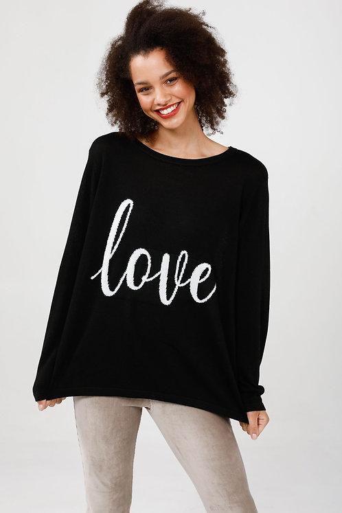 Petra Love Knit Black & Off White