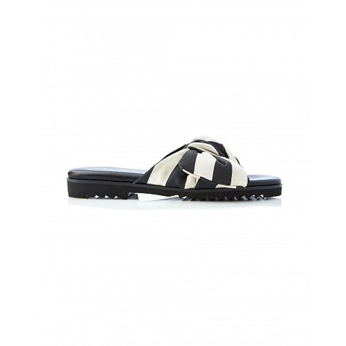 Sadie Bow Slide Stripe Black/Cream