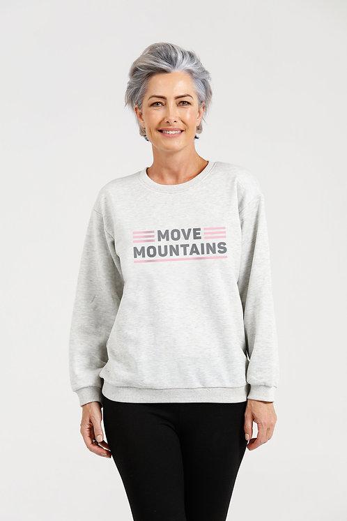 Brave + True Sweatshirt Grey