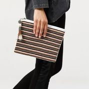 Tones Stripe Clutch