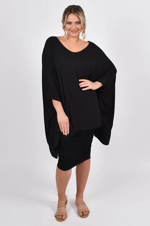 Long Sleeve Essential Top Black