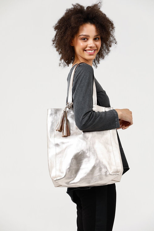 Kate Tote In Silver & Rose Gold